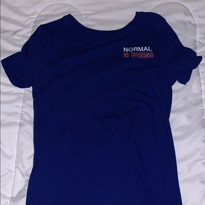 Blue Normal Is Boring Tee
